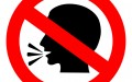 No talking vector sign