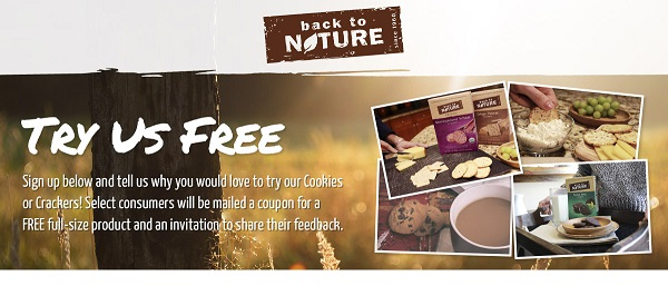Free Back To Nature Cookies and Crackers