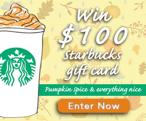 Win a $100 Starbucks Gift Card
