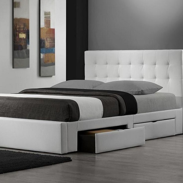 One Winner Will Receive A Newhouse White Leather Platform Bed With 4  Drawers And More Furniture All Valued At $9,197 .