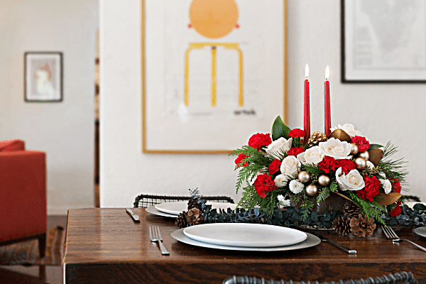 Teleflora winter pines centerpiece giveaway freebies ninja