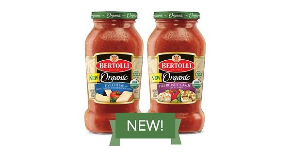 Bertolli Organic Pasta Sauces Sweepstakes 2
