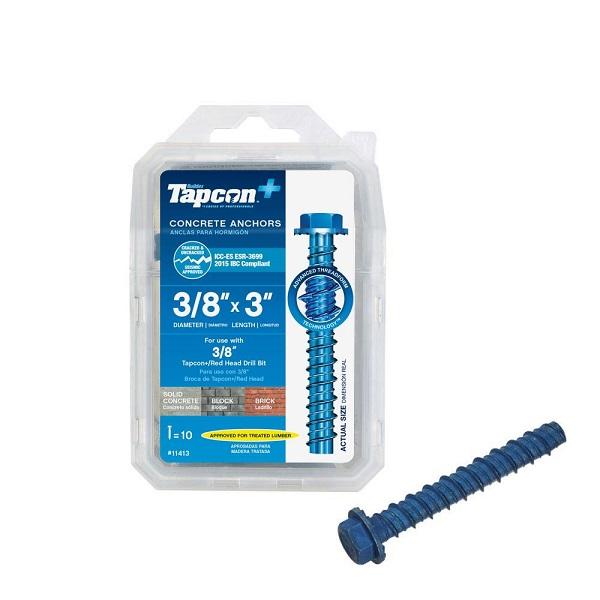 Free Sample of Heavy-Duty Tapcon + Concrete Screw Anchors