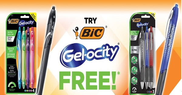 Free Pack of BIC Gel-ocity Pens After Rebate