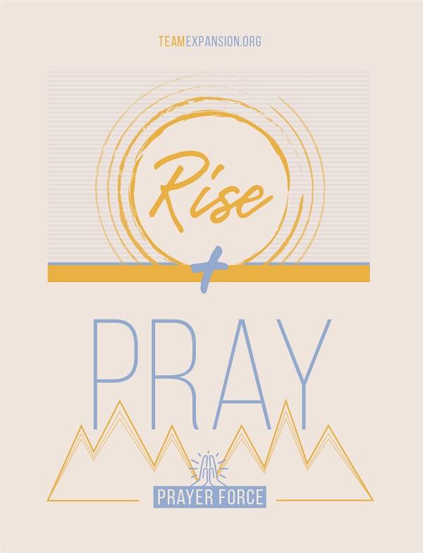 Free Rise + Pray Window Cling