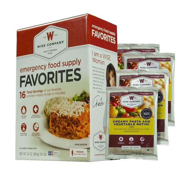 Free Sample of Wise Company Survival Food