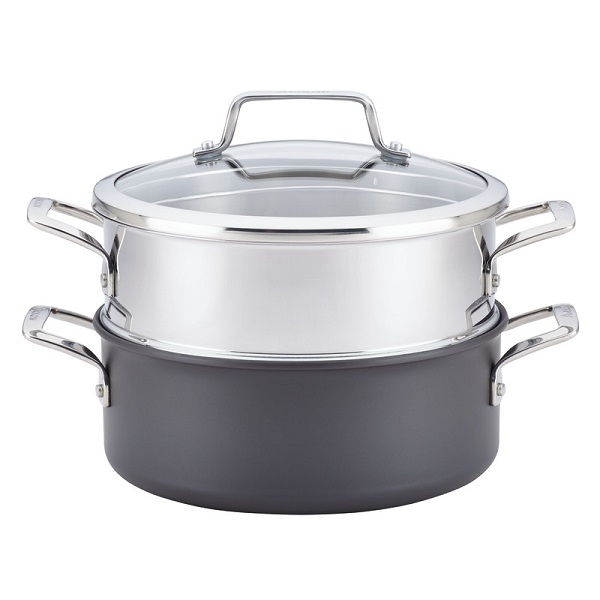 Anolon Covered Saucepan with Steamer Insert Sweepstakes