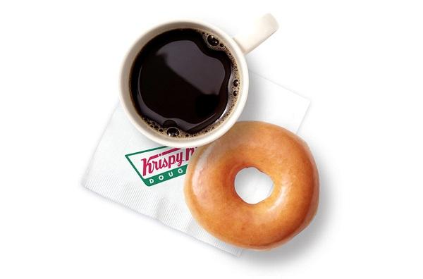 Free Coffee & Doughnut at Krispy Kreme on 29th