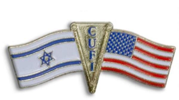 Free US & Israel Unity Pin