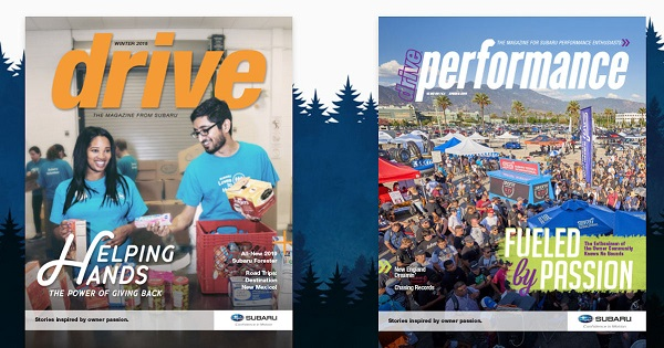 Free Subaru Drive & Drive Performance Magazine Subscriptions