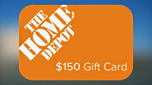 $150 Home Depot Gift Card Sweepstakes