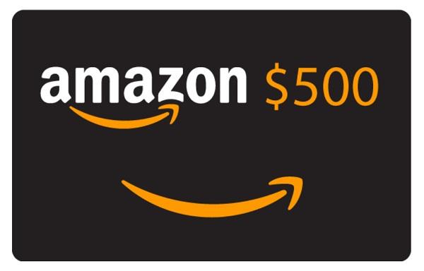 $500 Amazon Gift Card Sweepstakes