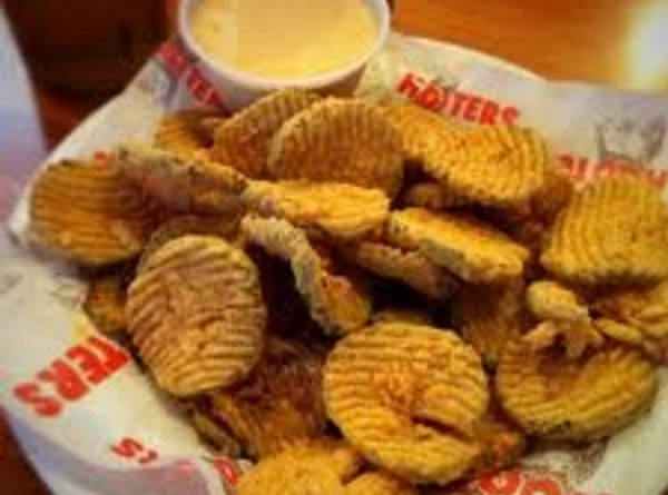 Free Fried Pickles at Hooters